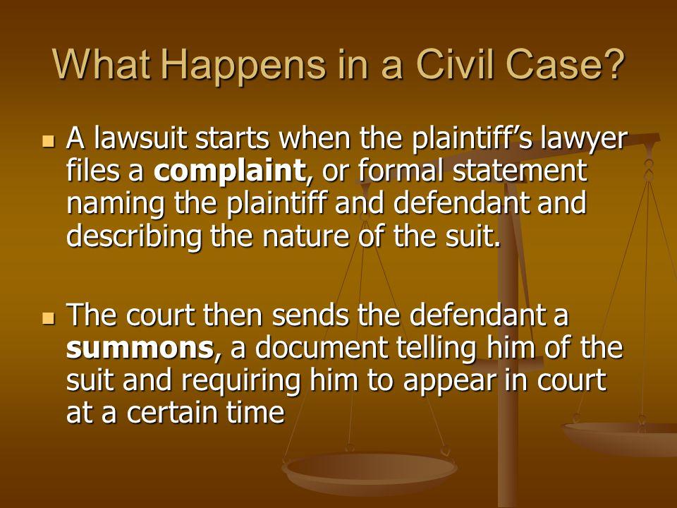 What Happens in a Civil Case.