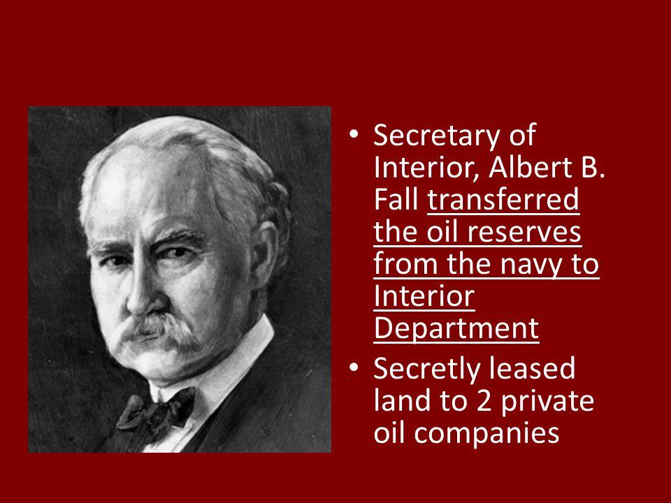 Secretary of Interior, Albert B.