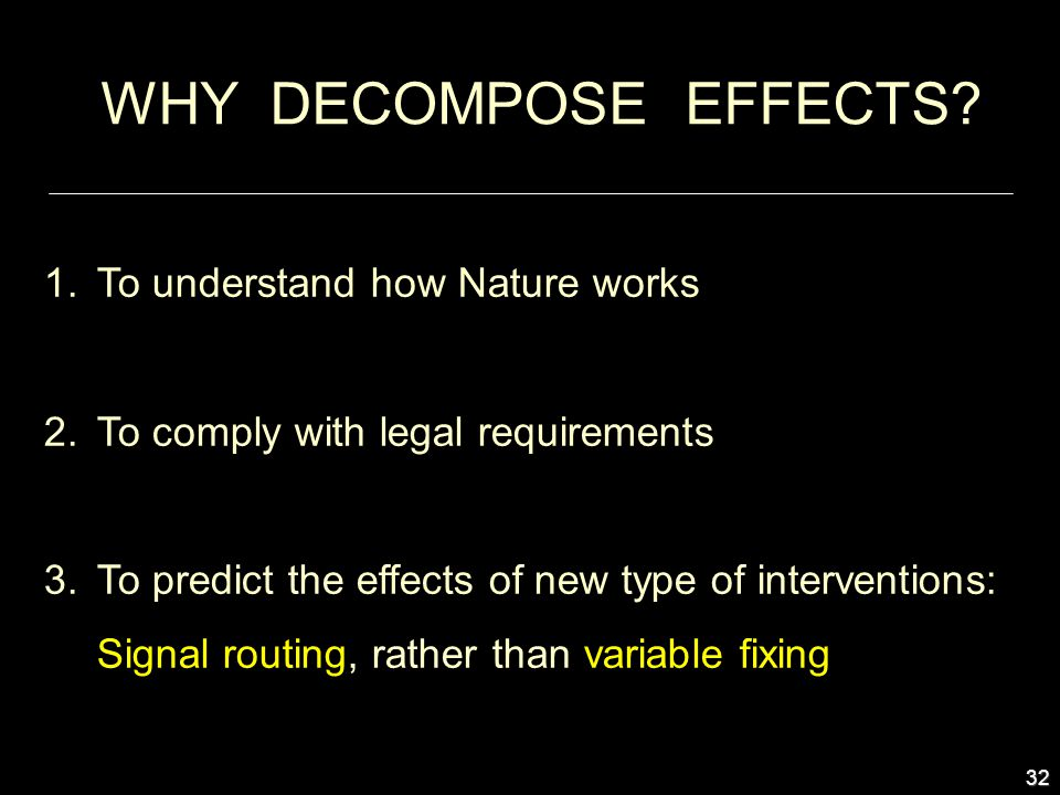 32 WHY DECOMPOSE EFFECTS.
