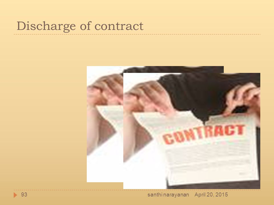 Discharge of contract April 20, 201593santhi narayanan