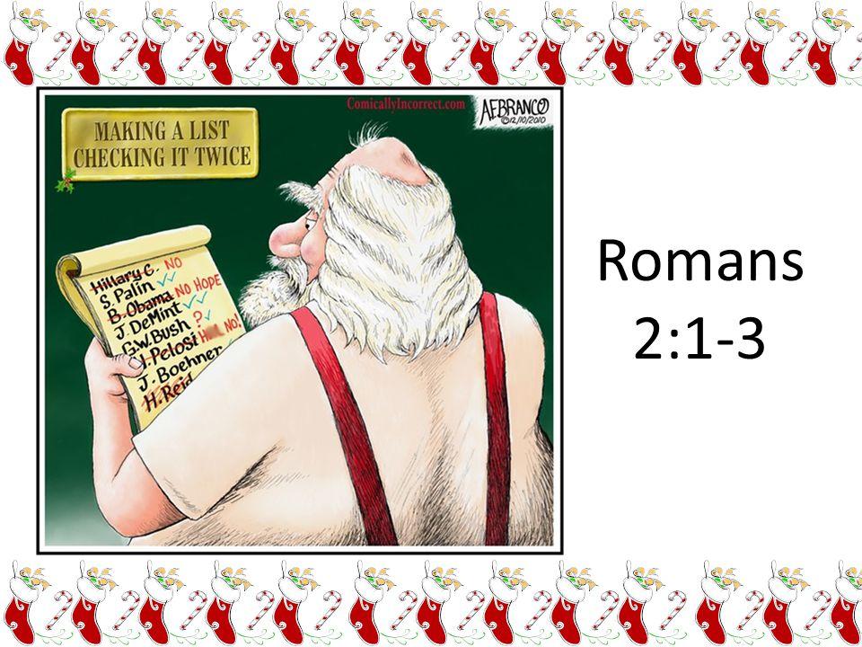 Romans 2:1-3