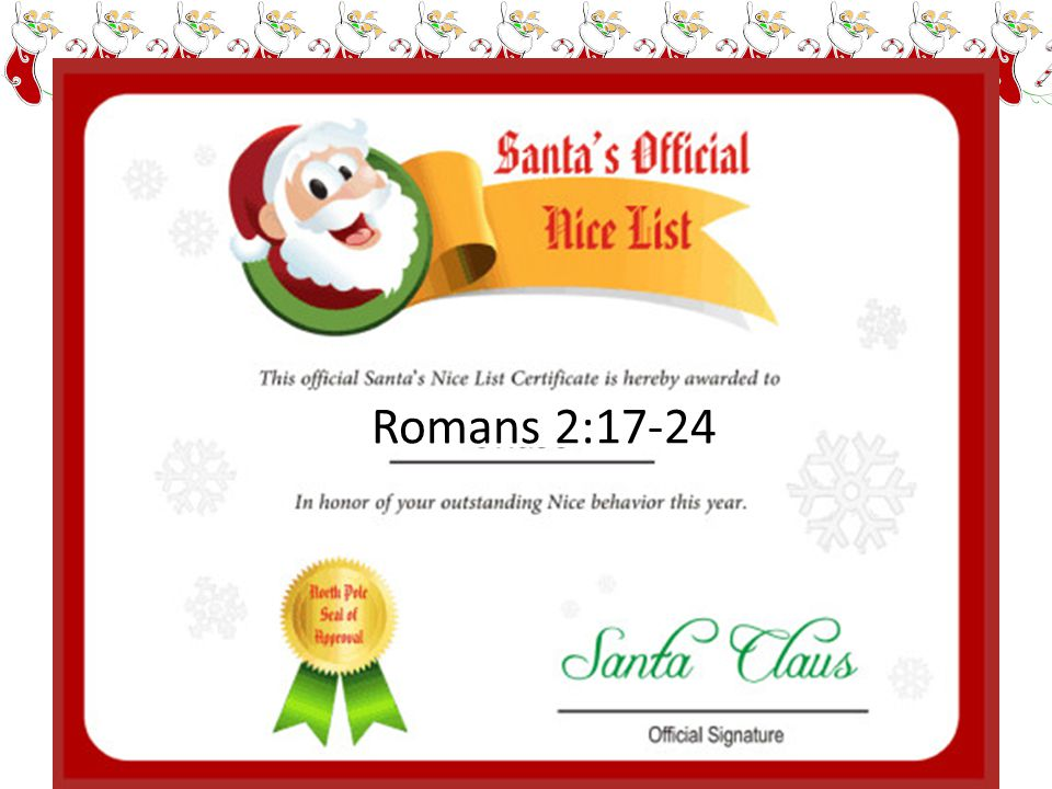 Romans 2:17-24