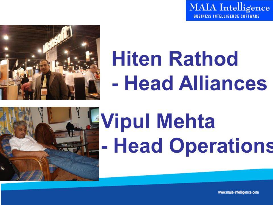 Hiten Rathod - Head Alliances Vipul Mehta - Head Operations