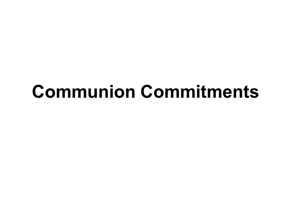 Communion Commitments