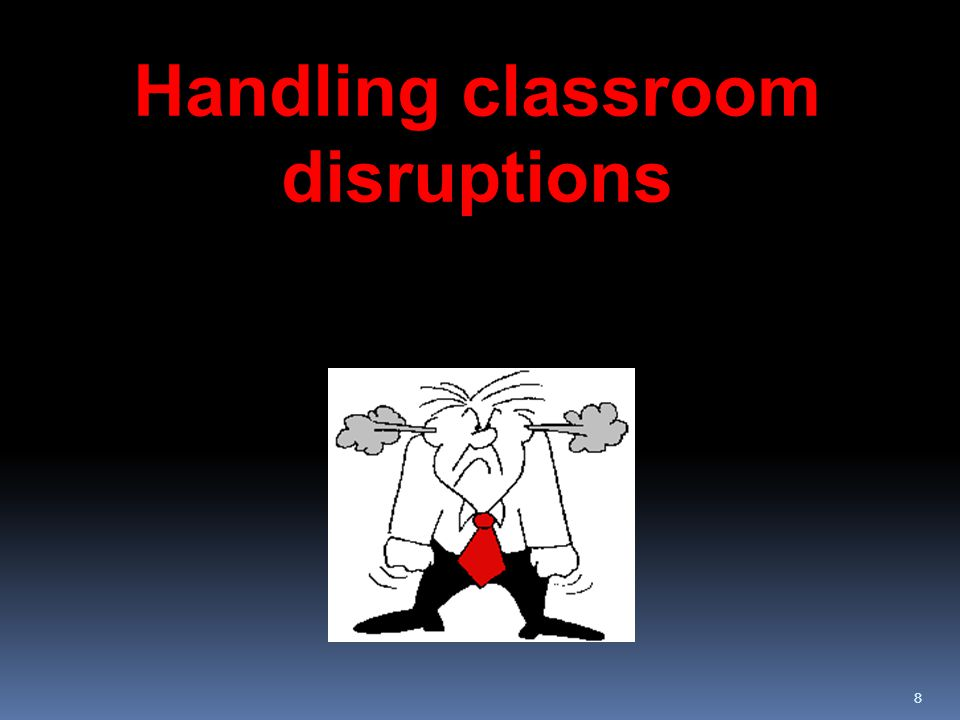88 Handling classroom disruptions