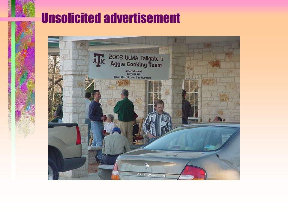 2003 University Landscapers Managers Association January 21 - 23 FREDERICKSBURG, TX