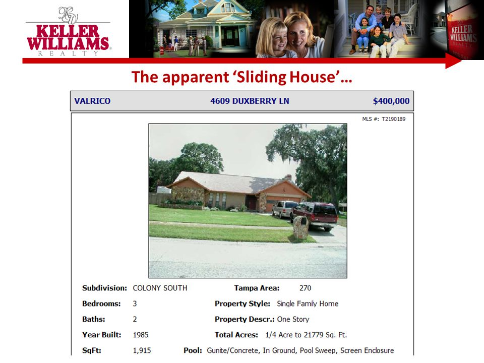 The apparent 'Sliding House'…