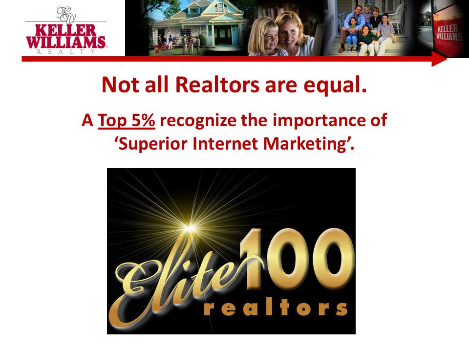 Not all Realtors are equal. A Top 5% recognize the importance of 'Superior Internet Marketing'.