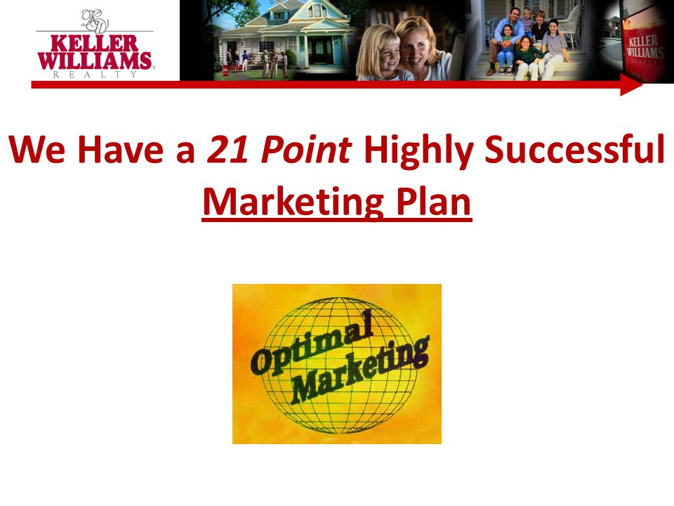 We Have a 21 Point Highly Successful Marketing Plan