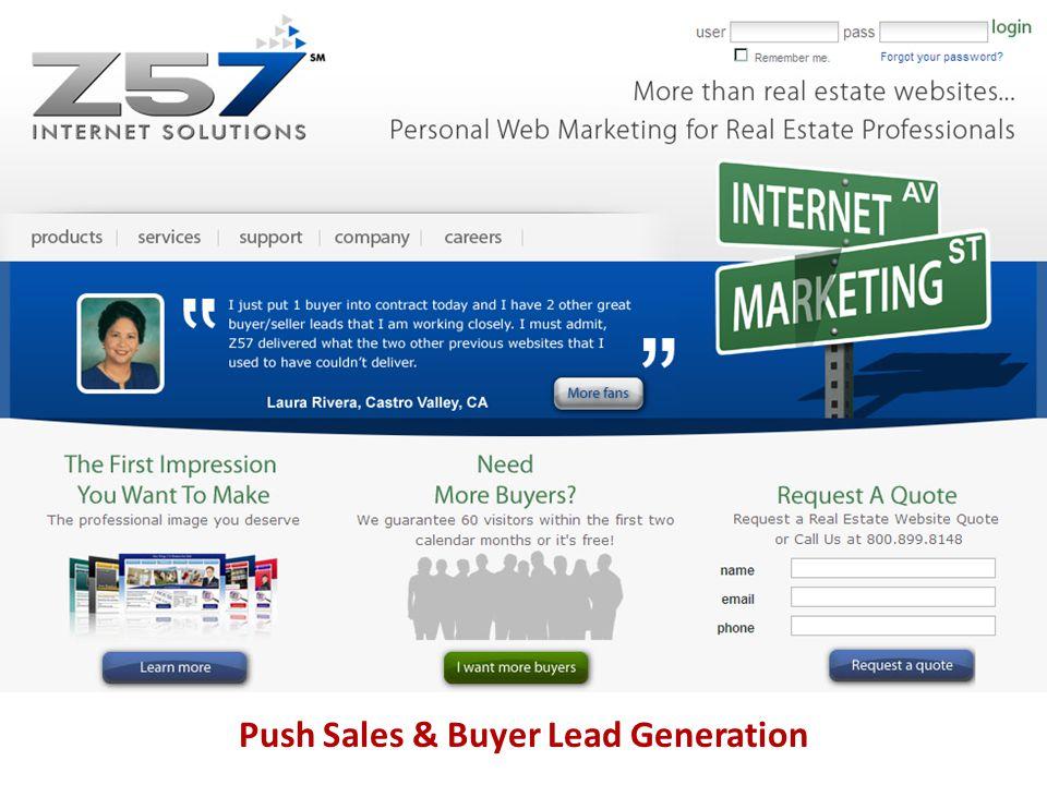 Push Sales & Buyer Lead Generation