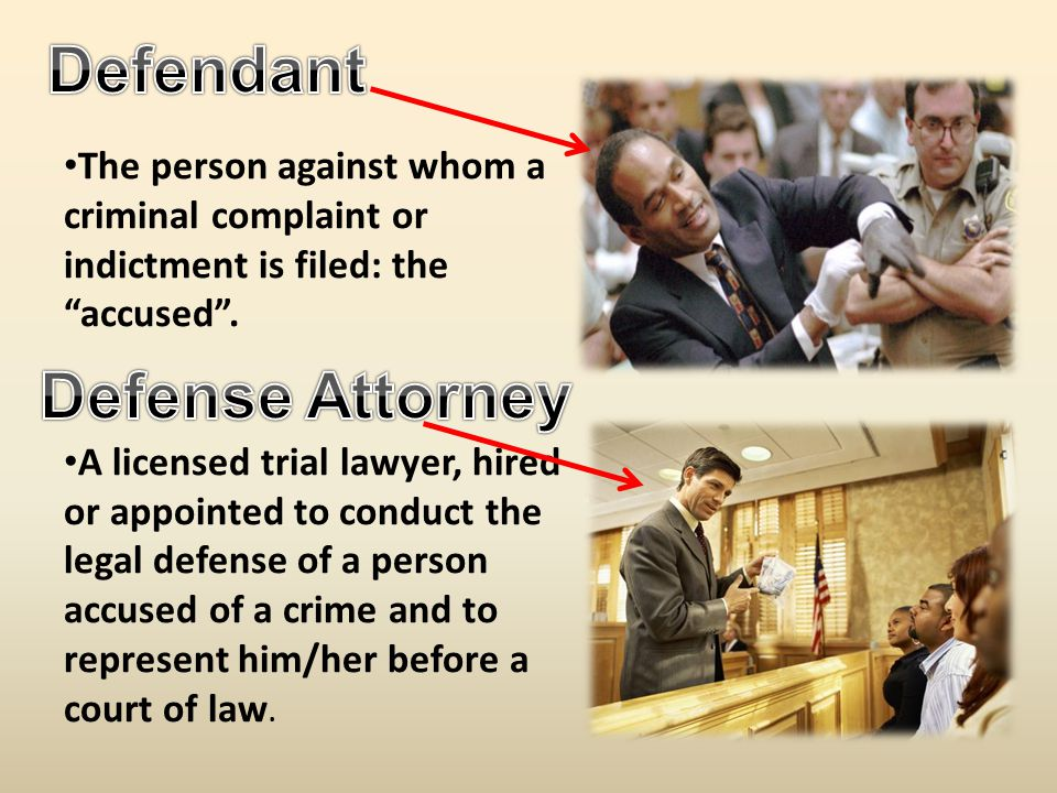 The person against whom a criminal complaint or indictment is filed: the accused .