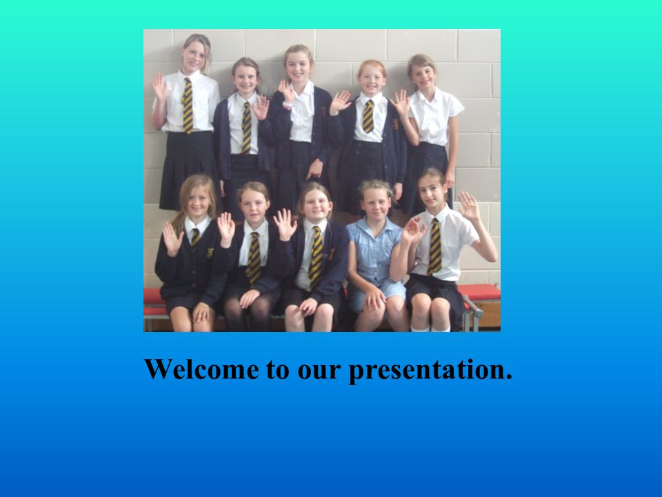 Welcome to our presentation.