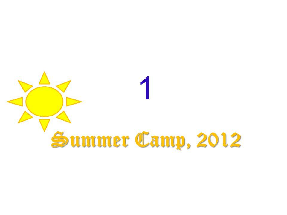 1 Summer Camp, 2012