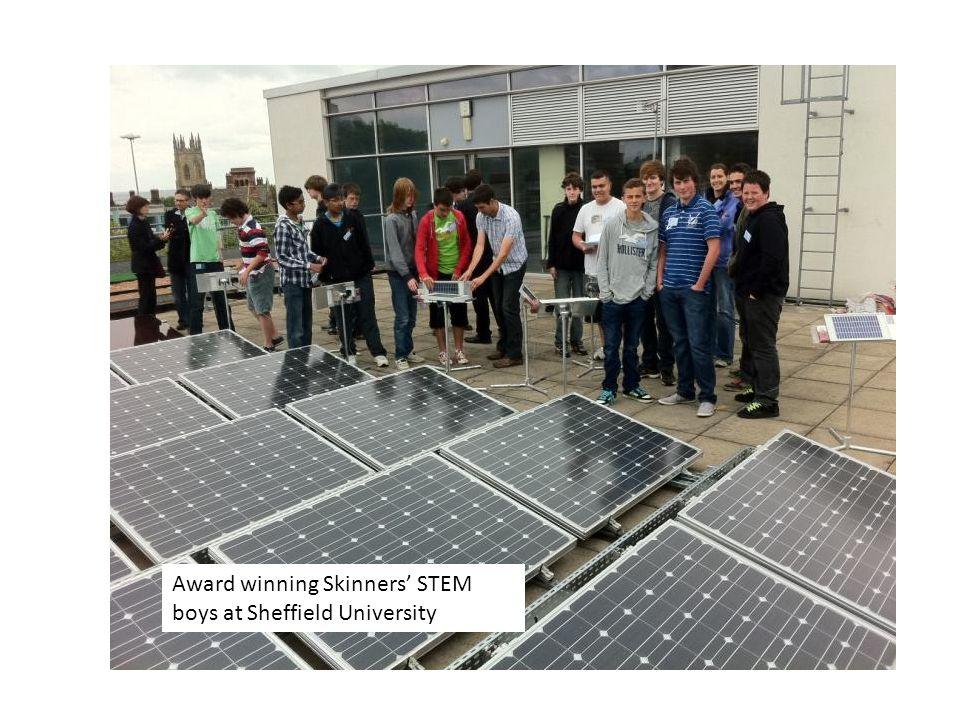 Award winning Skinners' STEM boys at Sheffield University