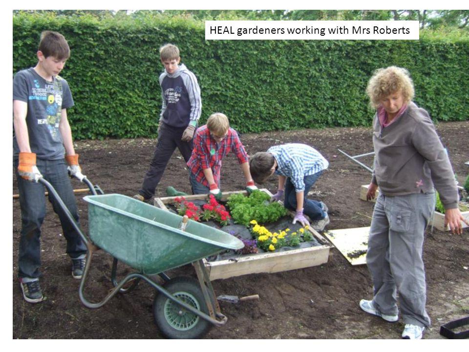 HEAL gardeners working with Mrs Roberts