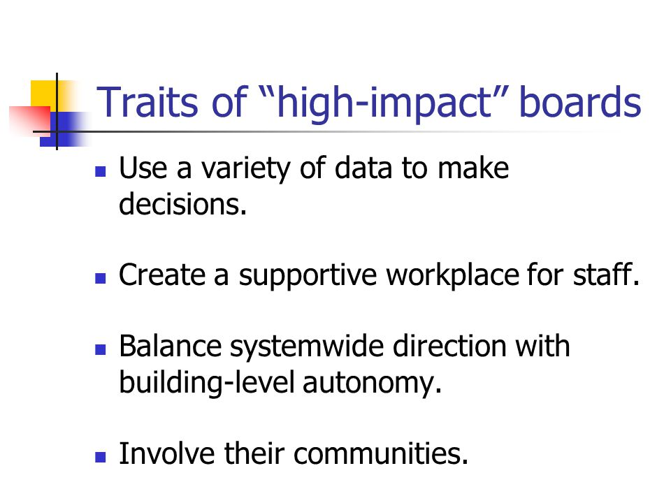 Becoming a High Impact Board Questions?