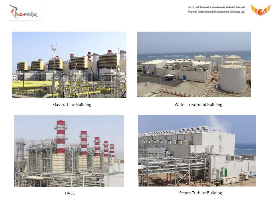Gas Turbine BuildingWater Treatment Building Steam Turbine Building HRSG
