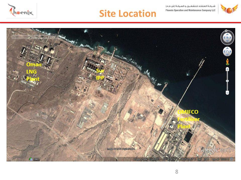 8 Site Location Sur IPP Oman LNG Plant OMIFCO Fertiliser Plant Sur IPP