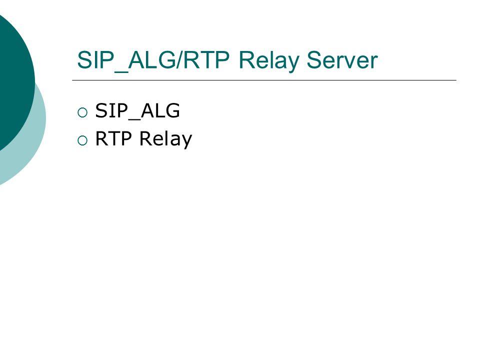 SIP_ALG/RTP Relay Server  SIP_ALG  RTP Relay