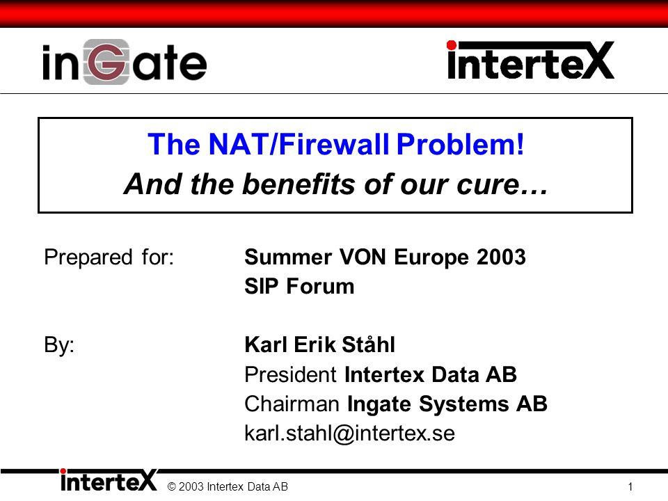 The NAT/Firewall Problem.