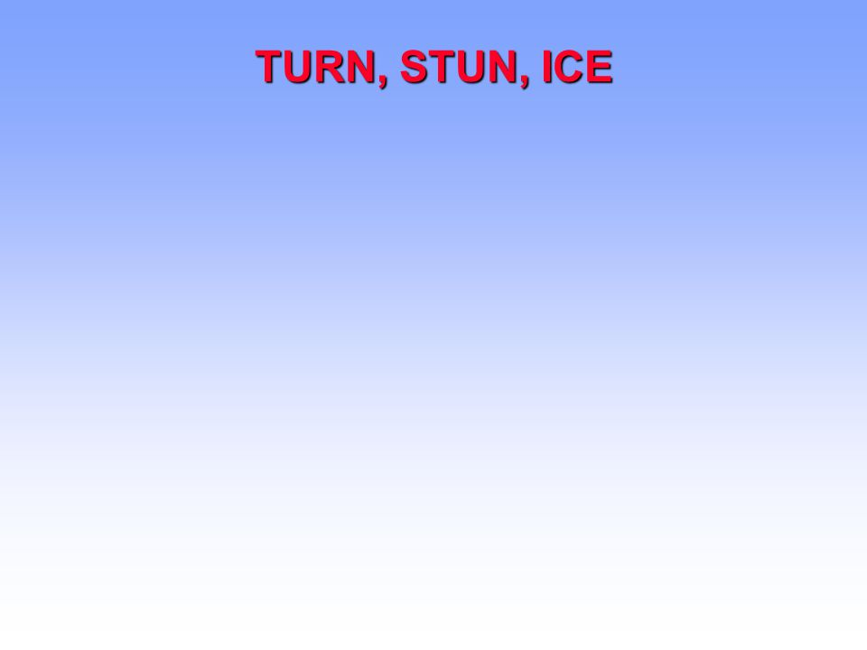 TURN, STUN, ICE