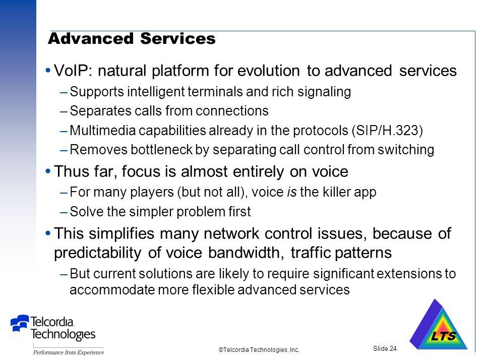 LTS ©Telcordia Technologies, Inc. Slide 23 STUN – Simple Traversal of UDP Through NATs draft-rosenberg-midcom-stun-01.txt Internet SIP Client NAT Priv
