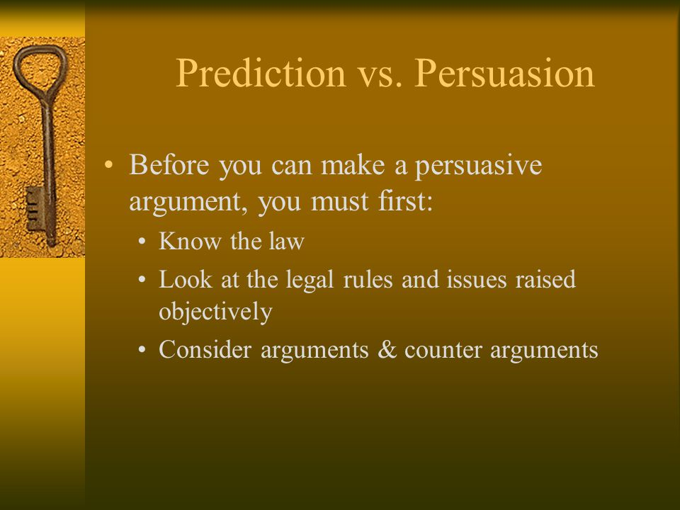 Important Job All Lawyers Have in Common Making predictions Answering questions