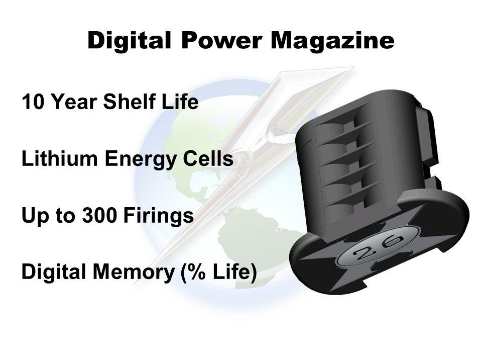10 Year Shelf Life Lithium Energy Cells Up to 300 Firings Digital Memory (% Life) Digital Power Magazine