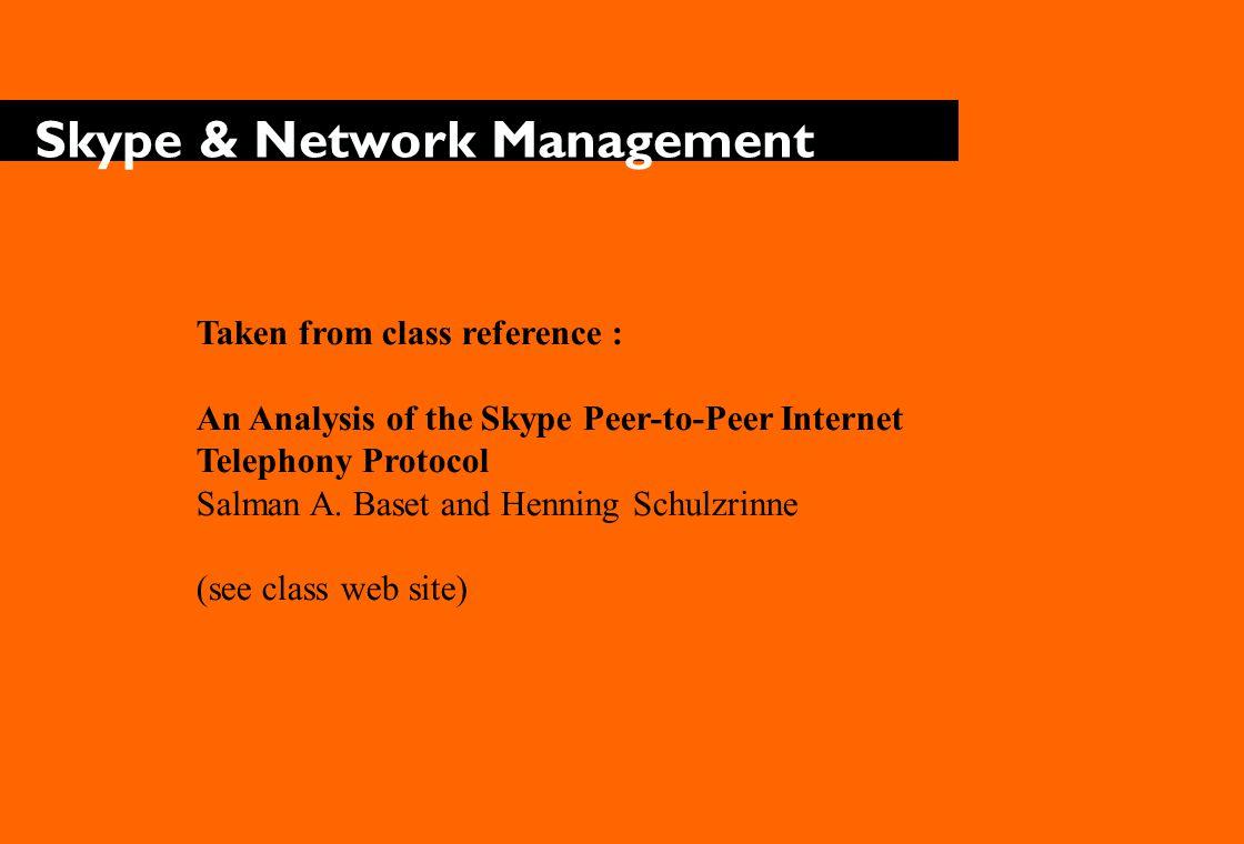 Skype & Network Management