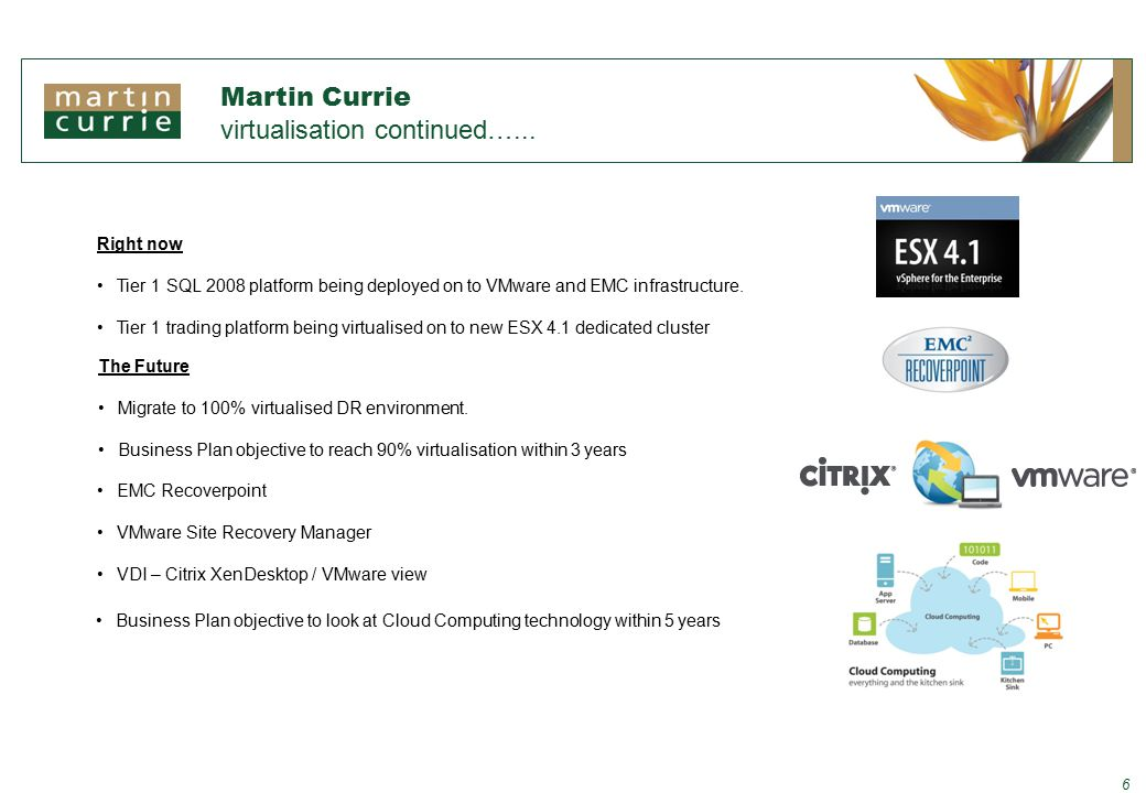 Martin Currie virtualisation continued…...