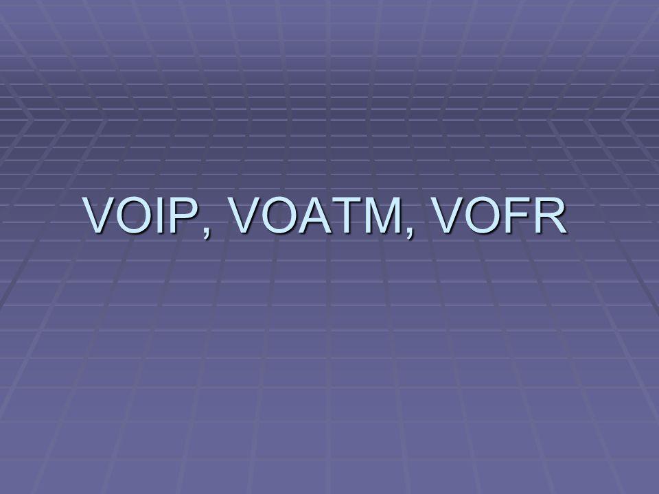 VOIP, VOATM, VOFR