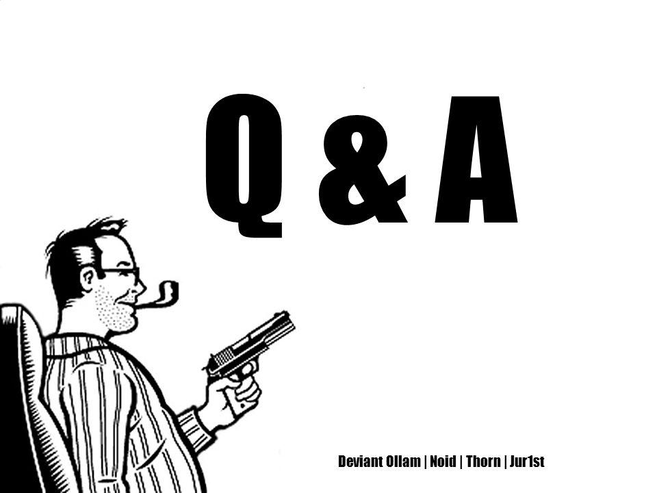 Deviant Ollam | Noid | Thorn | Jur1st Q & A