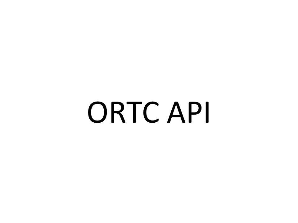 ORTC API
