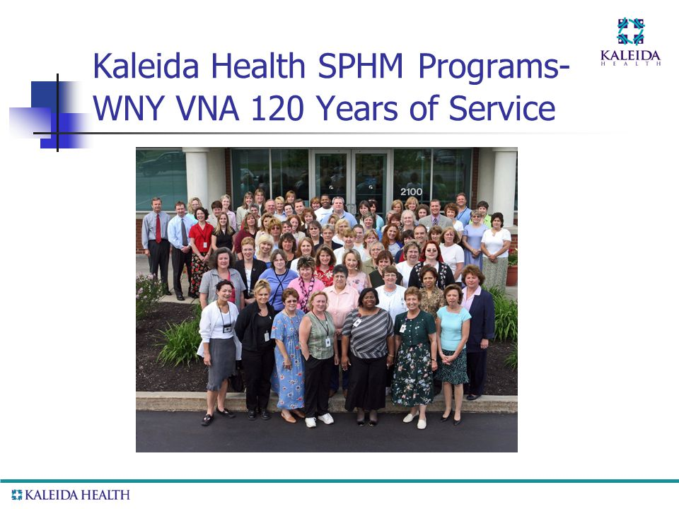 . Kaleida Health SPHM Programs- WNY VNA 120 Years of Service