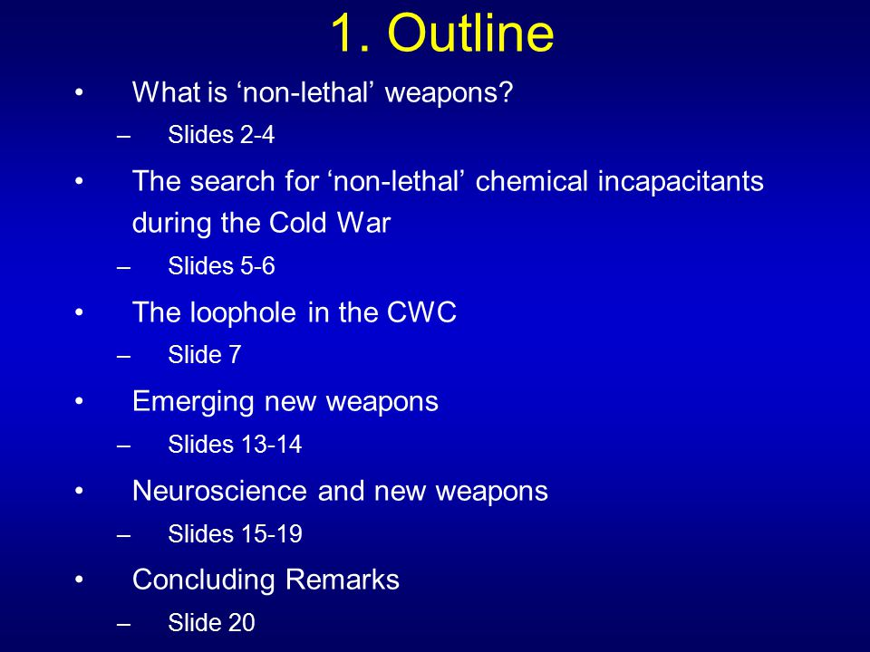 12.'Non-lethal' weapons are far from non-lethal.