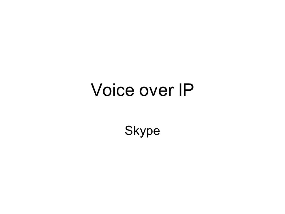 The largest and most well know P2P Internet telephony operator Started in 2003, grew in only 1.5 years from nothing to a rapidly expanding Internet telephony operator over 2 million active users as of March 2005