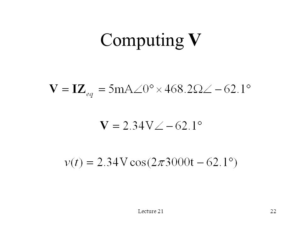 Lecture 2122 Computing V