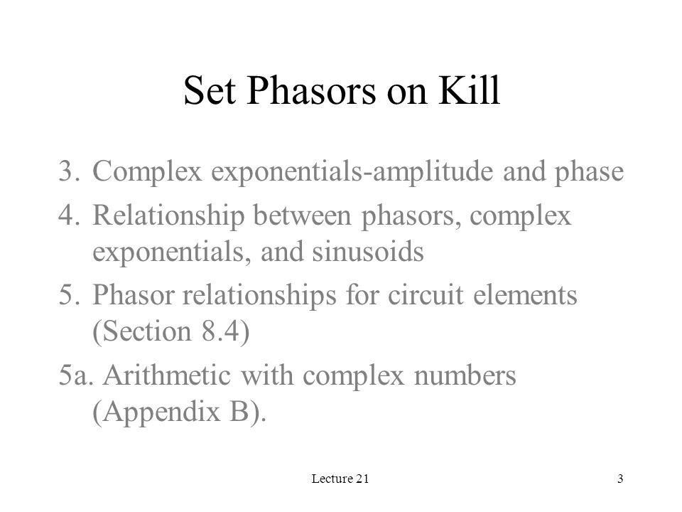 Lecture 2124 Find Impedances 1k  -j3.5  5mA  0  + - V