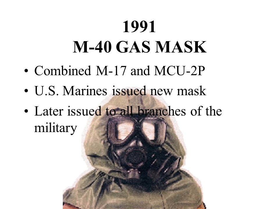 1991 M-40 GAS MASK Combined M-17 and MCU-2P U.S.