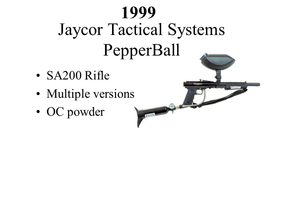 SA200 Rifle Multiple versions OC powder Jaycor Tactical Systems PepperBall 1999