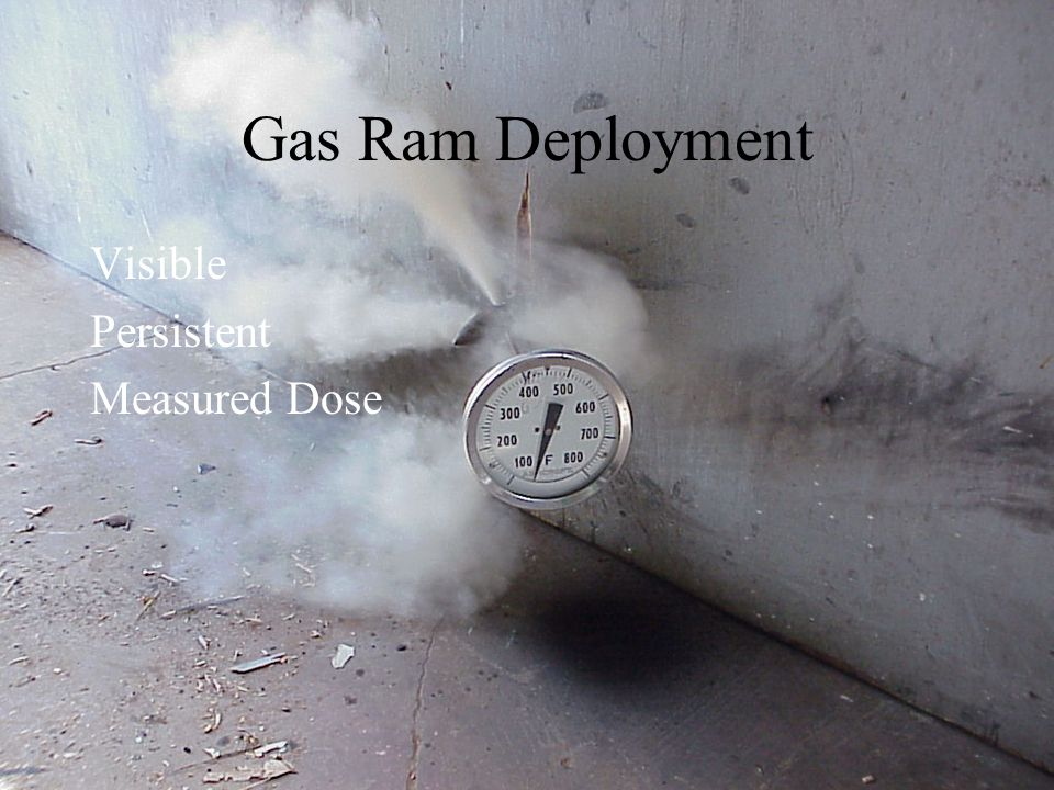 Gas Ram Deployment Visible Persistent Measured Dose