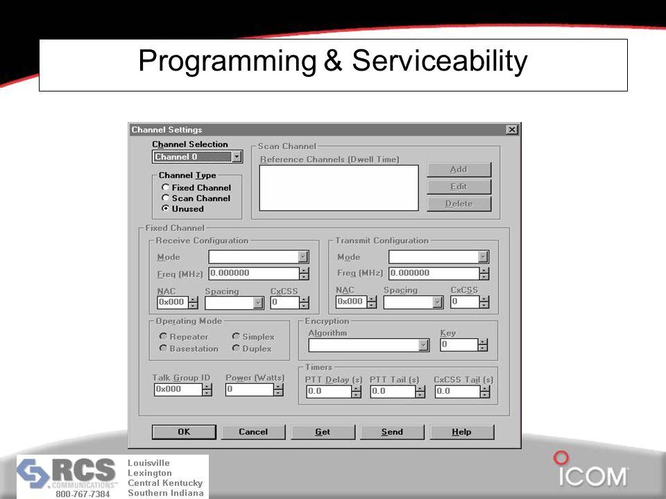 Programming & Serviceability