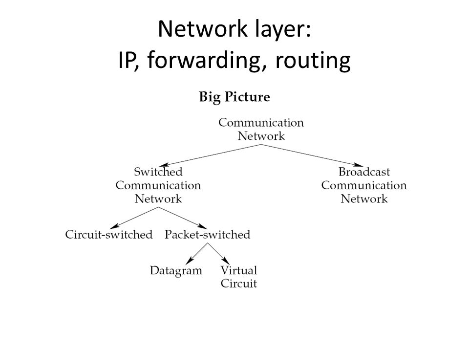 Network layer: IP, forwarding, routing