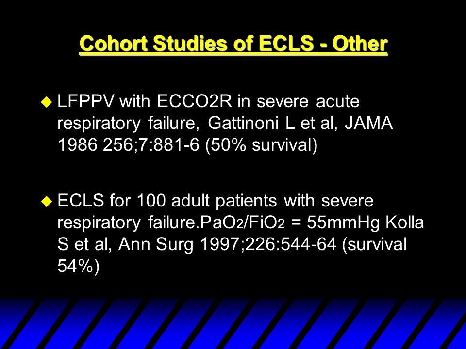 Cohort studies of ECMO- Leicester 1997. Cohort studies of ECMO- Leicester 1997.