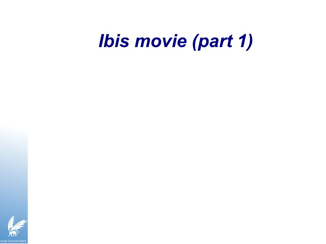 Ibis movie (part 1)