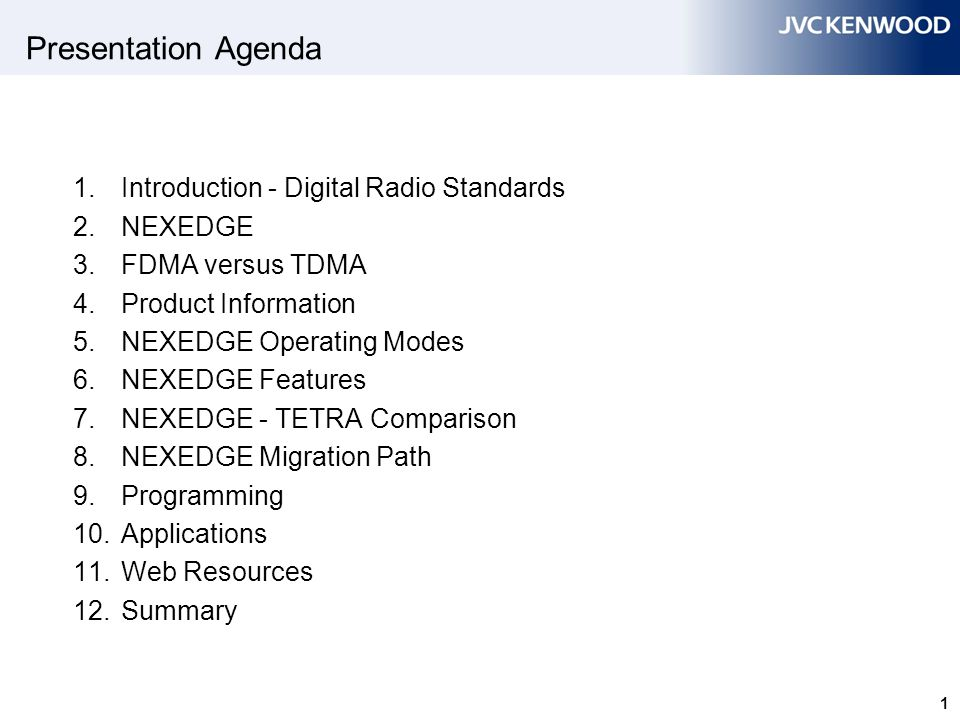 2 1 1. Introduction - Digital Radio Standards