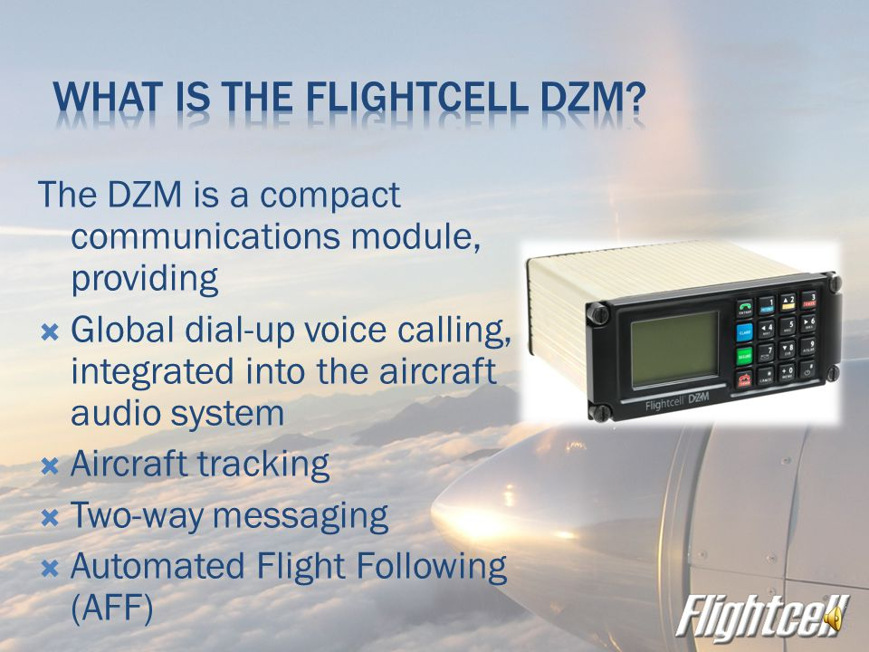  Flightcell is a New Zealand company  We have been designing and building communication equipment since 2000  We currently sell to military, govenement and civil aviation customers worldwide