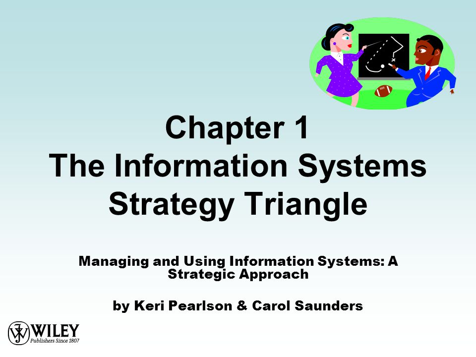 Chapter 1 The Information Systems Strategy Triangle Managing and Using Information Systems: A Strategic Approach by Keri Pearlson & Carol Saunders