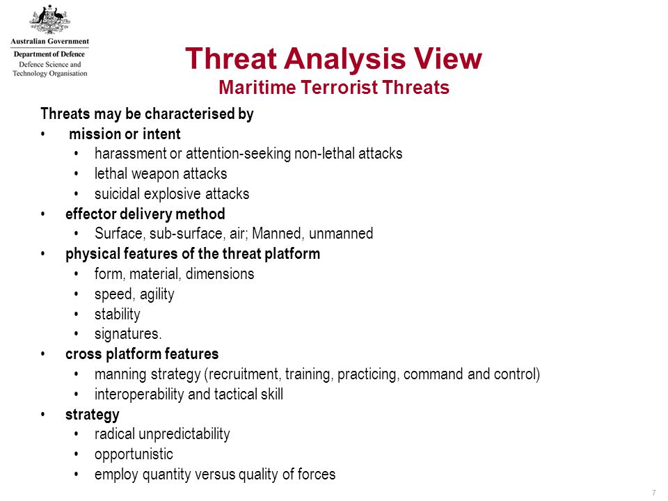 18 Weapon Study Ship physical, targeting data Threat data 1 on 1 effectiveness System issues.