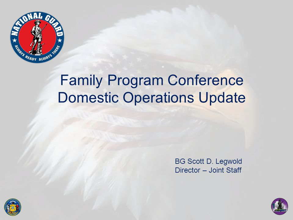 12 Past Operations 27 MAR 09 to 24 APR 09 Provided via FEMA MA and EMAC: –20 personnel –3 x UH-60 'Blackhawk' Aircraft Conducted assessment flights, MEDEVAC support, personnel movement and the capability to operate using night vision.